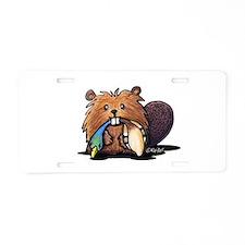 Beaver Lover Aluminum License Plate