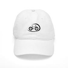 Black swoop fatbike logo Baseball Baseball Cap