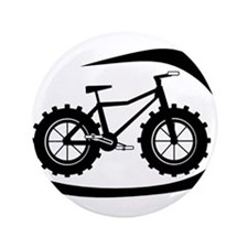 "Black swoop fatbike logo 3.5"" Button"