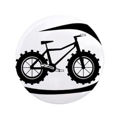 "Black swoop fatbike logo 3.5"" Button"