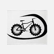 Black swoop fatbike logo Throw Blanket