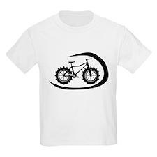 Black swoop fatbike logo T-Shirt