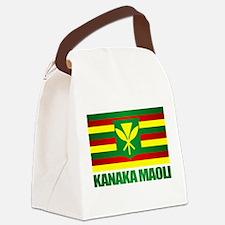 Kanaka Maoli Flag Canvas Lunch Bag