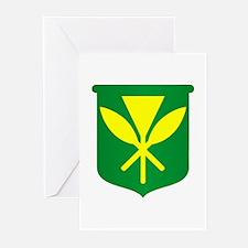 Kanaka Maoli Flag Greeting Cards (Pk of 10)