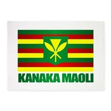 Kanaka Maoli Flag 5'x7'Area Rug