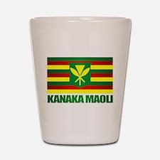 Kanaka Maoli Flag Shot Glass