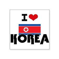 I HEART KOREA FLAG Sticker