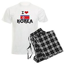 I HEART KOREA FLAG Pajamas