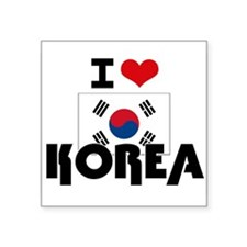 I HEART KOREA FLAG Sticker