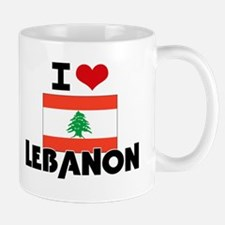 I HEART LEBANON FLAG Small Small Mug