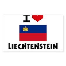 I HEART LIECHTENSTEIN FLAG Decal