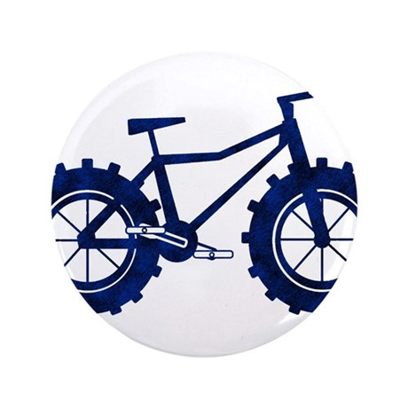 "blue n black fat bike logo 3.5"" Button"