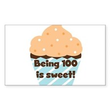 Cupcake Sweet 100 Birthday Decal