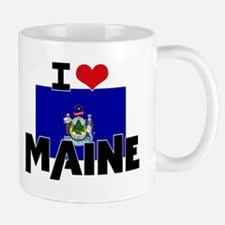 I HEART MAINE FLAG Mug