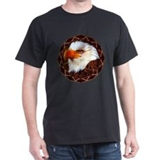 Geometric Bald Eagle Dark T-Shirt