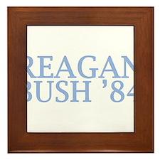 Reagan Bush '84 Framed Tile