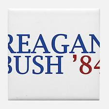 Reagan Bush '84 Tile Coaster