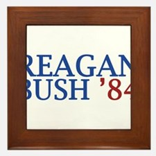 Reagan Bush '84 Framed Tile