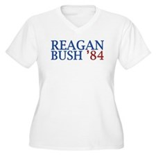 Reagan Bush '84 Plus Size T-Shirt