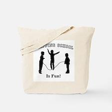 Skipping School Tote Bag
