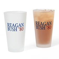 Reagan Bush '80 Drinking Glass