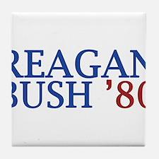 Reagan Bush '80 Tile Coaster