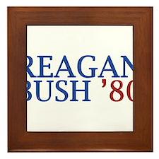 Reagan Bush '80 Framed Tile