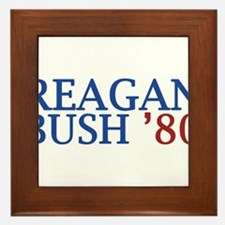 Reagan Bush '80 Framed Tile