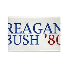 Reagan Bush '80 Rectangle Magnet