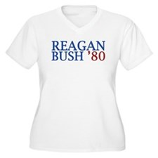 Reagan Bush '80 Plus Size T-Shirt