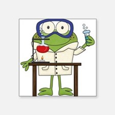 Frog in Science Lab Sticker