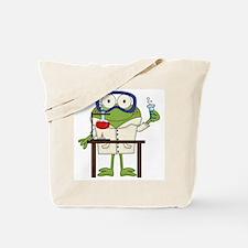 Frog in Science Lab Tote Bag