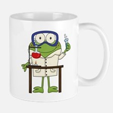 Frog in Science Lab Small Mugs