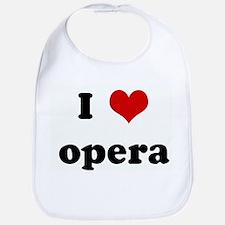 I Love opera Bib