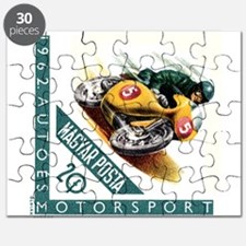 1962 Hungary Motorcycle Racing Postage Stamp Puzzl