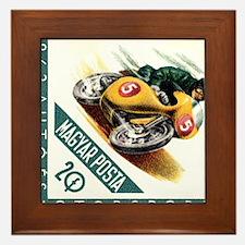 1962 Hungary Motorcycle Racing Postage Stamp Frame