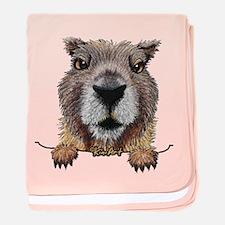 Yellow-bellied Marmot baby blanket