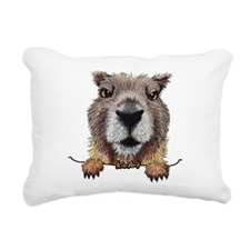 Yellow-bellied Marmot Rectangular Canvas Pillow