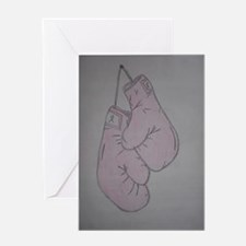 Pink boxing gloves Greeting Card