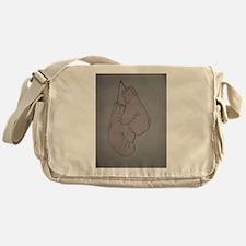 Pink boxing gloves Messenger Bag