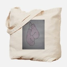 Pink boxing gloves Tote Bag
