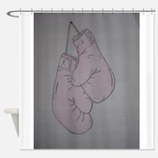 Pink boxing gloves Shower Curtain