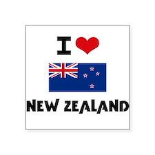 I HEART NEW ZEALAND FLAG Sticker