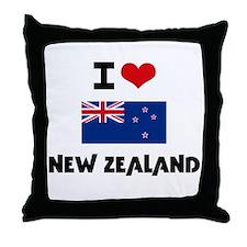 I HEART NEW ZEALAND FLAG Throw Pillow