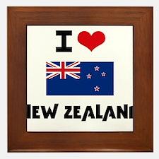 I HEART NEW ZEALAND FLAG Framed Tile