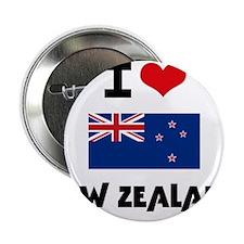 "I HEART NEW ZEALAND FLAG 2.25"" Button"
