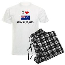 I HEART NEW ZEALAND FLAG Pajamas