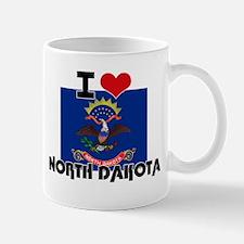I HEART NORTH DAKOTA FLAG Mug