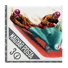 1962 Hungary Motorcycle Sidecar Racing Stamp Tile