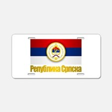 Srpska Flag Aluminum License Plate